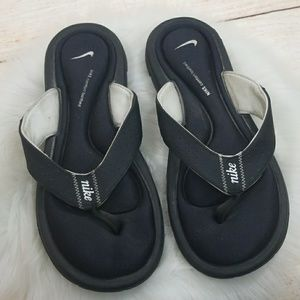 Nike comfort footbed slip on soft thong sandals 10
